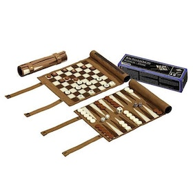 CHESS CHECKERS BACKGAMMON TRAVEL SET