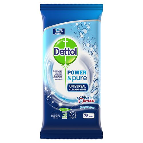 Dettol Power & Pure Desinfektionswipes 72 st