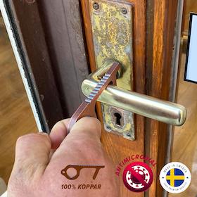 Kopparhanden Hygienisk nyckelring - Dörröppnare & touchpenna