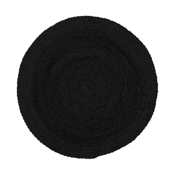 Rustikt bordsunderlägg svart 6 st