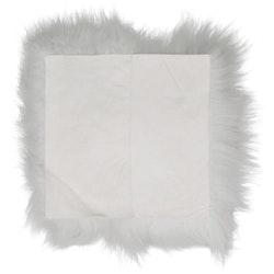 Stolsdyna fårskinn vit/brun