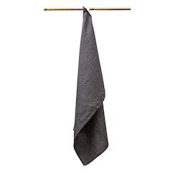 Linnehandduk grå 2-pack