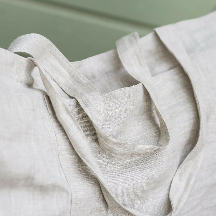 Väska i linne med ficka