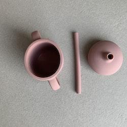 Sippy cup + sugrör flamingo