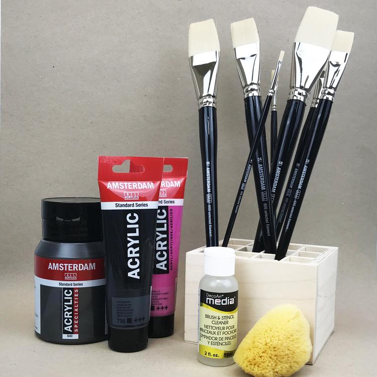 Penslar för akrylmåleri