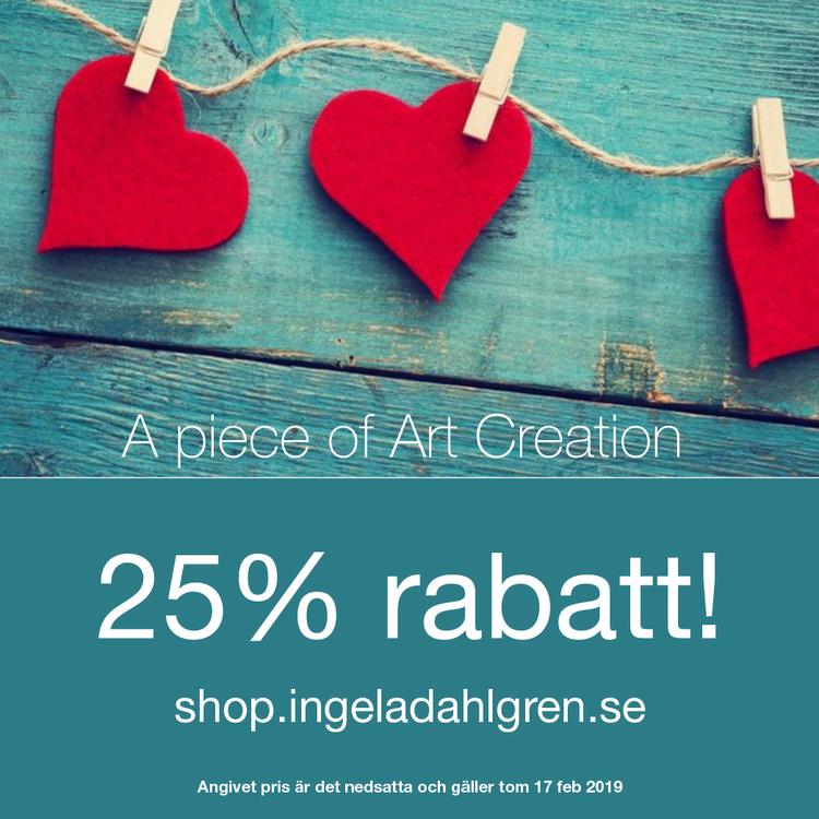 Valentine sale 25% rabatt