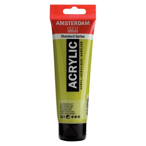Olive Green Light 621 - Amsterdam Akrylfärg 120 ml