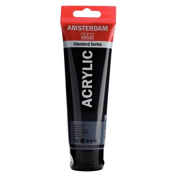 Lamp black 702 - Amsterdam Akrylfärg 120 ml
