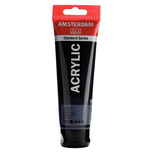 Lamp black 702 - Amsterdam Akrylfärg 120 ml