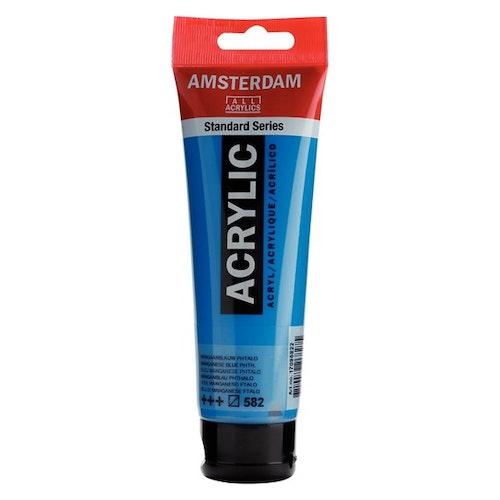 Manganese blue phthalo 582 - Amsterdam Akrylfärg 120 ml