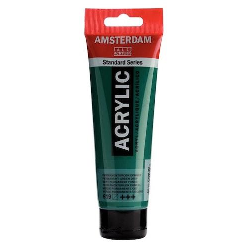 Permanent green deep 619 - Amsterdam Akrylfärg 120 ml