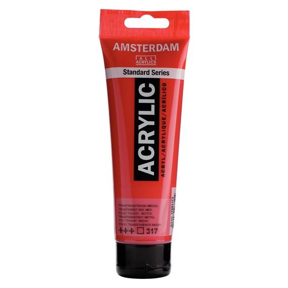 Transparent red medium 317 - Amsterdam Akrylfärg 120 ml