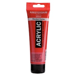 Transparent red medium 317 - Amsterdam Akrylfärg 120 ml