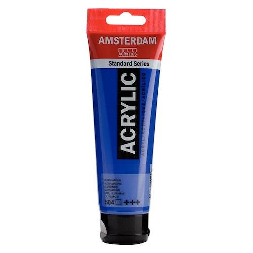 Ultramarine 504 - Amsterdam Akrylfärg 120 ml