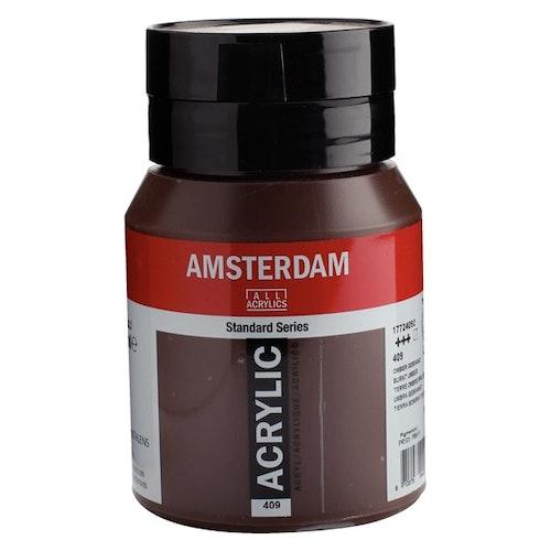 Burnt umber 409 - Amsterdam Akrylfärg 500 ml