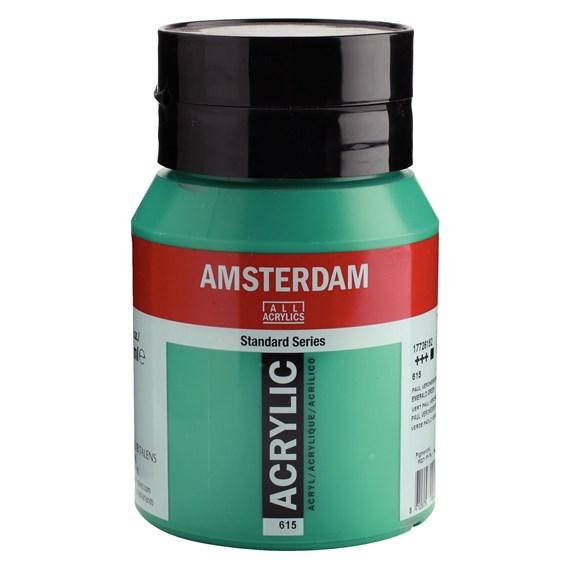 Emerald green 615 - Amsterdam Akrylfärg 500 ml