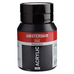 Lamp black 702- Amsterdam Akrylfärg 500 ml