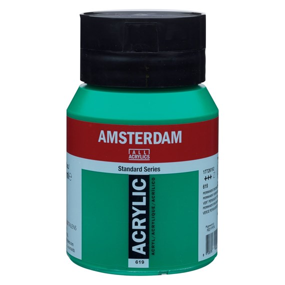 Permanent green deep 619 - Amsterdam Akrylfärg 500 ml