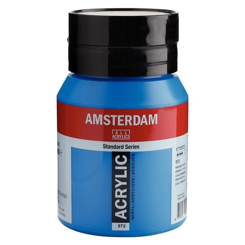 Primary cyan 572 - Amsterdam Akrylfärg 500 ml