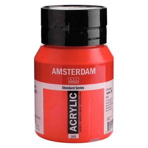 Pyrrole red 315 - Amsterdam Akrylfärg 500 ml