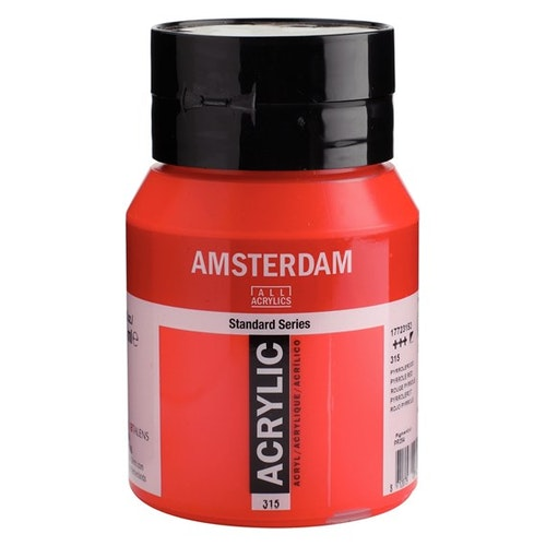 Pyrrole red 315 - Amsterdam Akrylfärg 500 ml