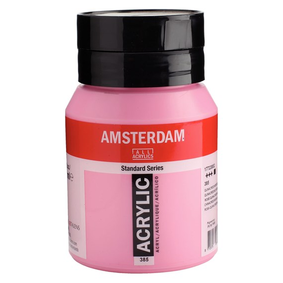 Quinacridone rose light 385 - Amsterdam Akrylfärg 500 ml