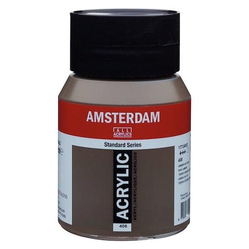 Raw umber 408 - Amsterdam Akrylfärg 500 ml