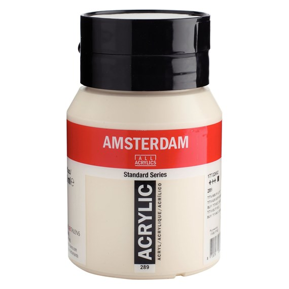 Titanium buff light 289 - Amsterdam Akrylfärg 500 ml