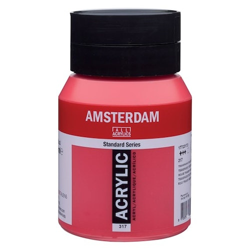 Transparent red medium 317 - Amsterdam Akrylfärg 500 ml