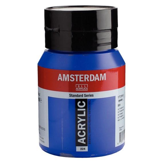 Ultramarine 504 - Amsterdam Akrylfärg 500 ml