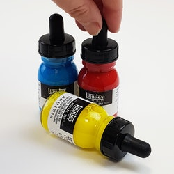 Acrylic Ink set - Primärfärgerna