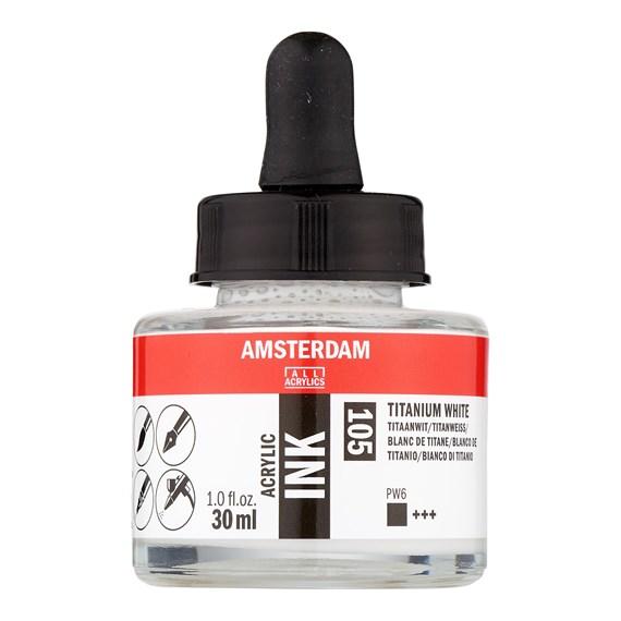 Titanium White Acrylic Ink 105