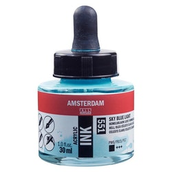 Sky Blue Light Acrylic Ink 551