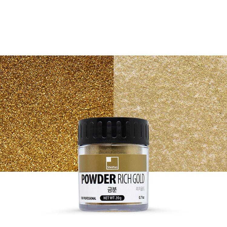 Metallisk pulver Guldig Förgyllningseffekt Deep Gold