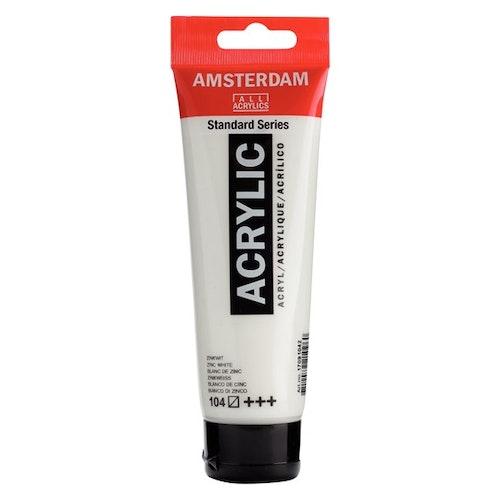 Zinc White 104 - Amsterdam Akrylfärg 120 ml