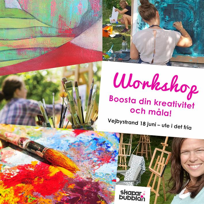 Workshop - Boosta din kreativitet och måla 18 juni 2021