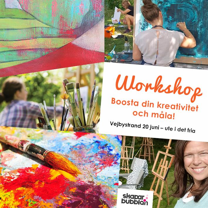 Workshop - Boosta din kreativitet och måla 20 juni 2021