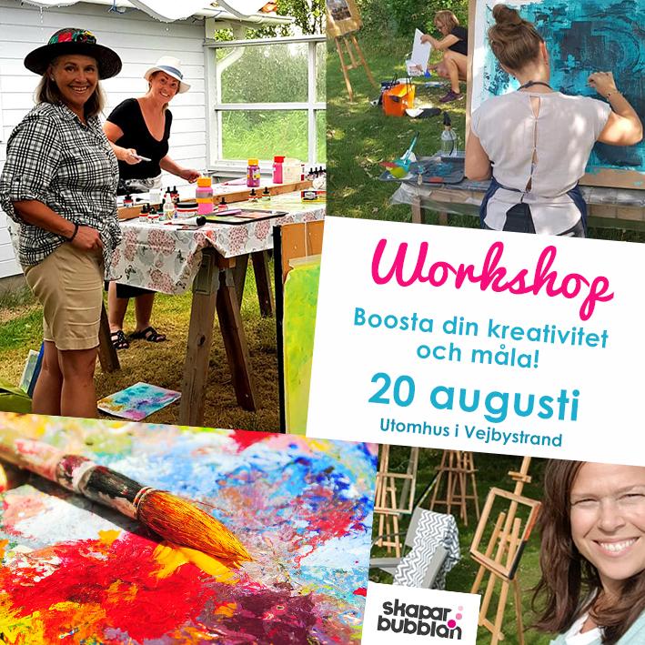 Workshop Boosta din kreativitet och måla 20 augusti 2021