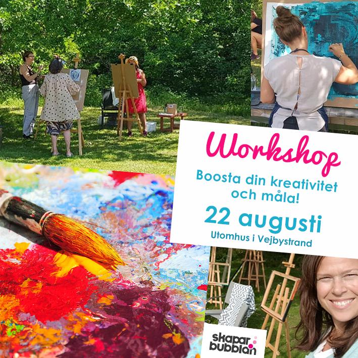 Workshop Boosta din kreativitet och måla - Söndag 22 augusti 2021