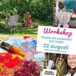 Boosta din kreativitet och måla - 22 augusti Söndag