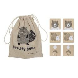 Bloomingville Mini -  Trä memory med djurmotiv