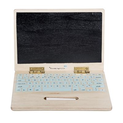 Leksaksdator i trä från Bloomingville Mini
