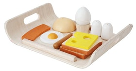 Plantoys - Leksakmat frukostbricka i trä