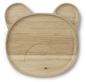 LIEWOOD - CONRAD WOODEN PLATE / MR. BEAR