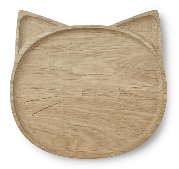 Liewood - Tallrik i trä, Katt
