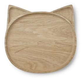 LIEWOOD - CONRAD WOODEN PLATE / CAT