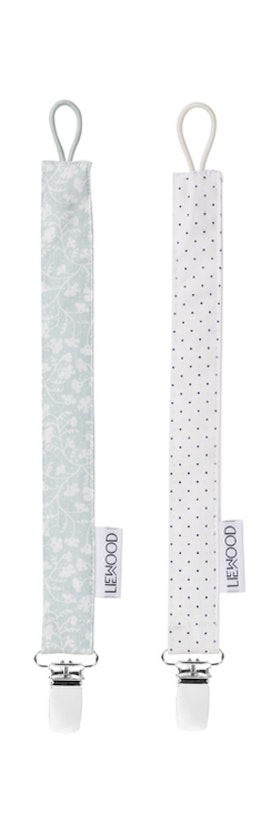 LIEWOOD - EA PACIFIER STRAP / LITTLE DOT CREME / URBAN GARDEN DUSTY MINT