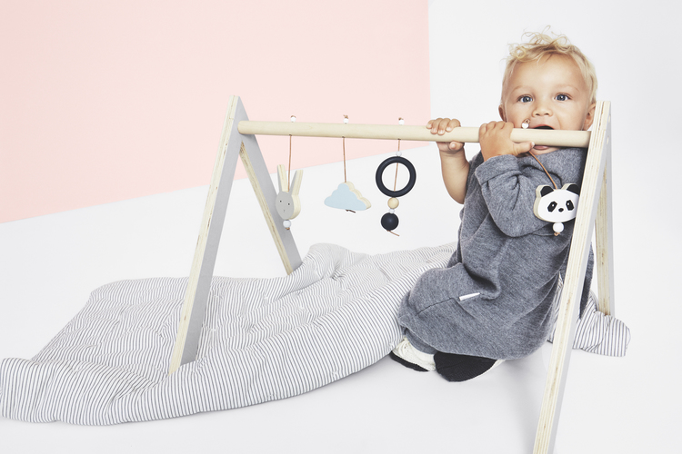 Liewood - Babygym i trä blå