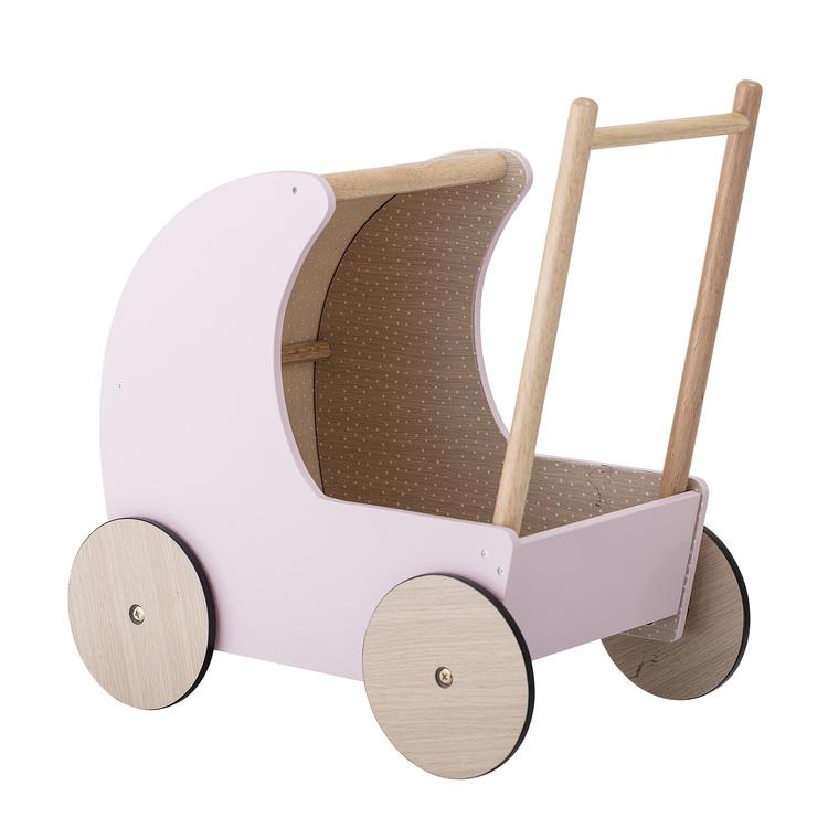Tåvagn dockvagn rosa i trä Bloomingville mini