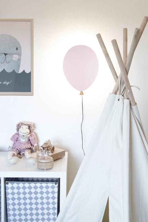 Globen Lighting - Ballonglampa Vägglampa rosa